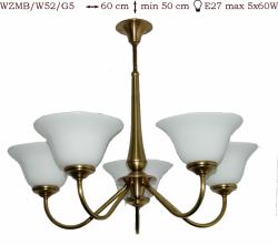 Żyrandol mosiężny JBT Stylowe Lampy WZMB/W52/G5