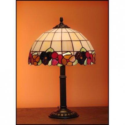 Lampka witrażowa lampka nocna biurkowa BRATKI H-48cm