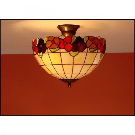 Plafon lampa żyrandol witraż BRATKI 40cm