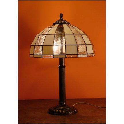 Lampka witrażowa nocna biurkowa MODERNUS H-48cm