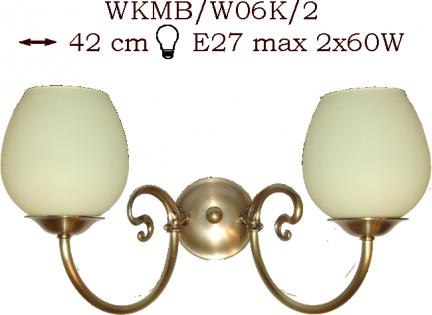 Kinkiet mosiężny JBT Stylowe Lampy WKMB/W06K/2