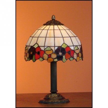 Lampka witrażowa lampka nocna biurkowa BRATKI H-34cm