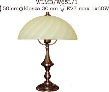 Lampka mosiężna JBT Stylowe Lampy WLMB/W65L/1