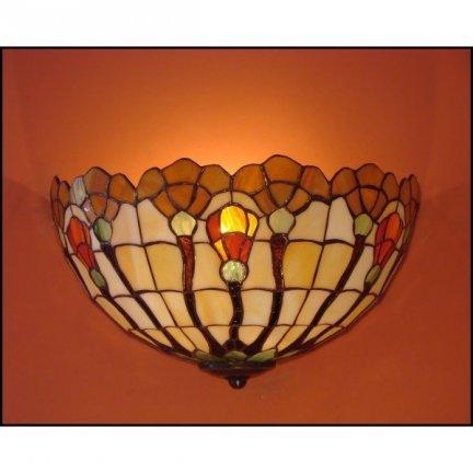 Lampa ścienna kinkiet witraż AKSAMIT 30cm