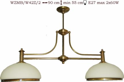Żyrandol mosiężny JBT Stylowe Lampy WZMB/W42Z/2