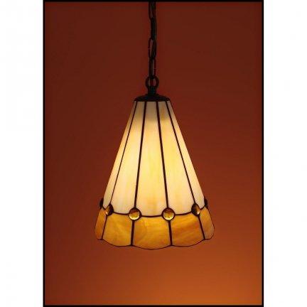 Lampa żyrandol zwis witraż BURSZTYN 20cm