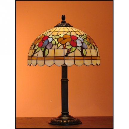 Lampka witrażowa nocna biurkowa LATO H-48 cm