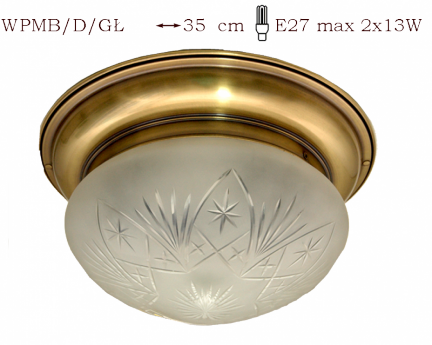 Plafon mosiężny JBT Stylowe Lampy WPMB/D/GŁ