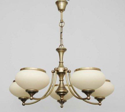 Żyrandol mosiężny JBT Stylowe Lampy WZMB/W63Z/5/4268
