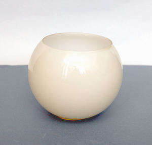 Klosz szklany kula otwarta 14 cm- klosze do lamp