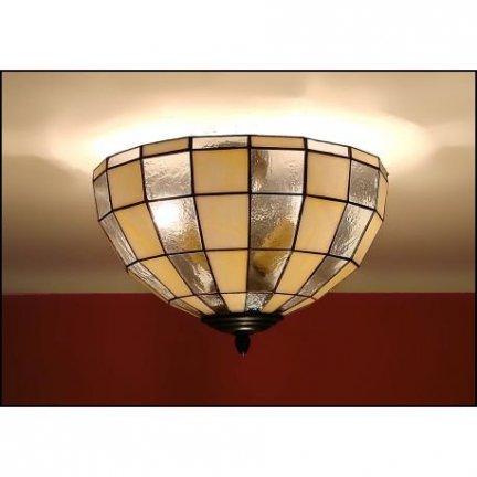 Plafon lampa żyrandol witraż MODERNUS 40cm