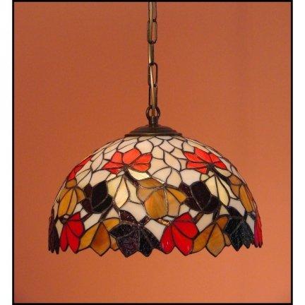Lampa żyrandol zwis witraż JESIEŃ 30cm