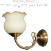 Kinkiet mosiężny JBT Stylowe Lampy WKMB/W60K/1