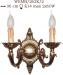 Kinkiet mosiężny JBT Stylowe Lampy WKMB/262K/2