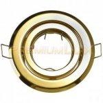 Oprawa halogenowa sufitowa BETA okrągła ruchoma BS złoty LUX01223
