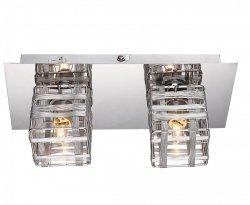 Cube - kinkiet plafon 2 płomienny chrom 208802-06