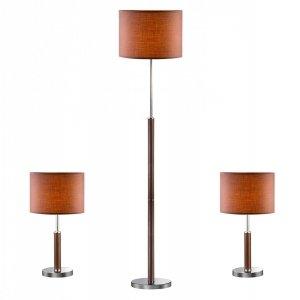 Lampki nocne,lampa podłogowa BARNETT 97031-3BR KOMPLET
