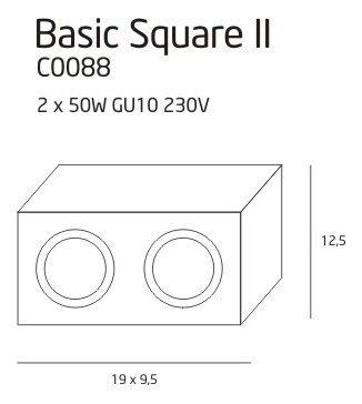 BASIC SQUARE II WH oprawa natynkowa C0088