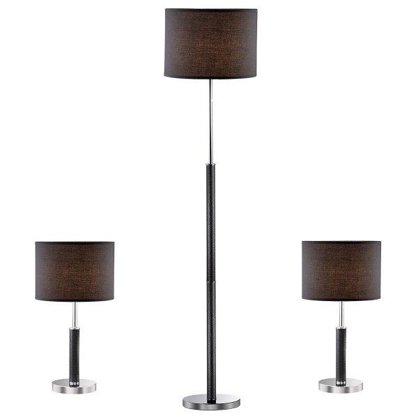 Lampki nocne,lampa podłogowa BARNETT 97031-3BL KOMPLET