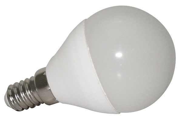 Żarówka E14 7 LED SMD 2835 6W CCD kulka ciepła biała