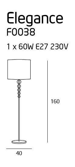 ELEGANCE lampa podłogowa F0038 MAXlight