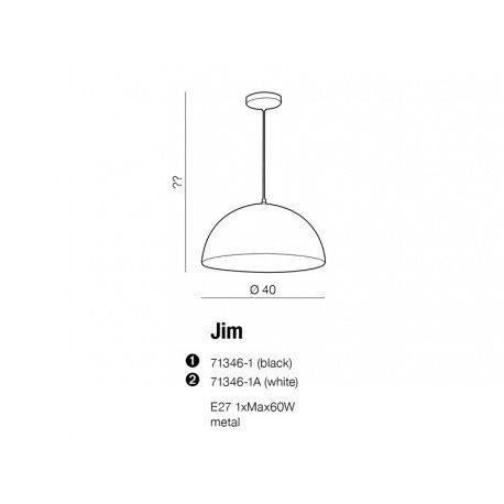 Lampa wisząca AZzardo JIM White copper 71346-1A