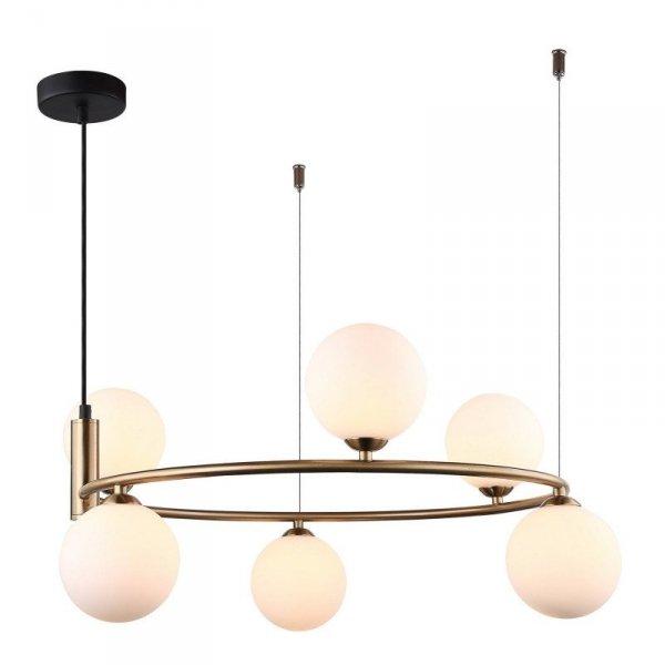 Lampa wisząca AMILY MDM-3974/6 BRO Italux