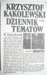 DZIENNIK TEMATÓW - Krzysztof Kąkolewski 1984