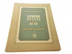 LITERATURA POLSKA W LATACH 1918-1939