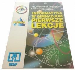 INFORMATYKA W GIMNAZJUM PIERWSZE LEKCJE (1999)