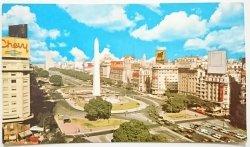 BUENOS AIRES. VISTA PANORA MICA DE LA AVENIDA 9 DE JULIO