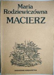 MACIERZ - Maria Rodziewiczówna 1983