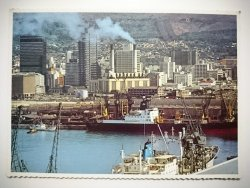 CAPE TOWN. LOOKING ACROSS THE DUNCAN DOCK