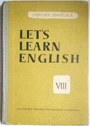 LET'S LEARN ENGLISH VIII - Janina Smólska 1961
