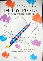 LEKTURY SZKOLNE W ĆWICZENIACH I TESTACH 1999
