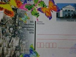 50 ROCZNICA POWSTANIA TEATRU STS. KARTKA POCZTOWA