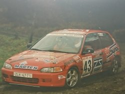 RAJD WRC 2005 ZDJĘCIE NUMER #281 HONDA CIVIC