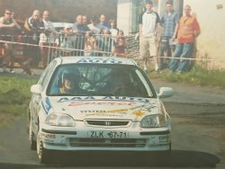RAJD WRC 2005 ZDJĘCIE NUMER #014 HONDA CIVIC