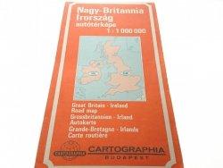 GREAT BRITAIN - IRELAND MAPA 1987