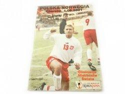 POLSKA-NORWEGIA. CHORZÓW, 1.09.2001 STADION ŚLĄSKI