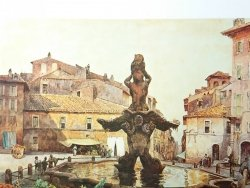 ROMA SPARITA. DI E ROESLER FRANZ. PIAZZA BARBERINI