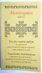MYŚLI - MONTESQUIEU - Leopold Gluck 1985