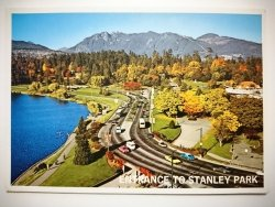 ENTRANCE TO STANLEY PARK (CAUSEWAY) VANCOUVER B. C. CANADA