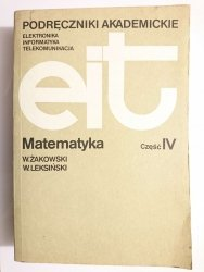 MATEMATYKA CZĘŚĆ IV - Wojciech Żakowski 1984