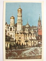 IVAN THE GREAT BELL-TOWER AND THE ARCHANGEL CATHEDRAL THE KREMLIN MOSCOW