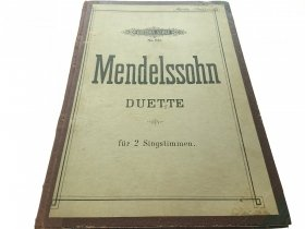 DUETTE FUR 2 SINGSTIMMEN - Mendelssohn