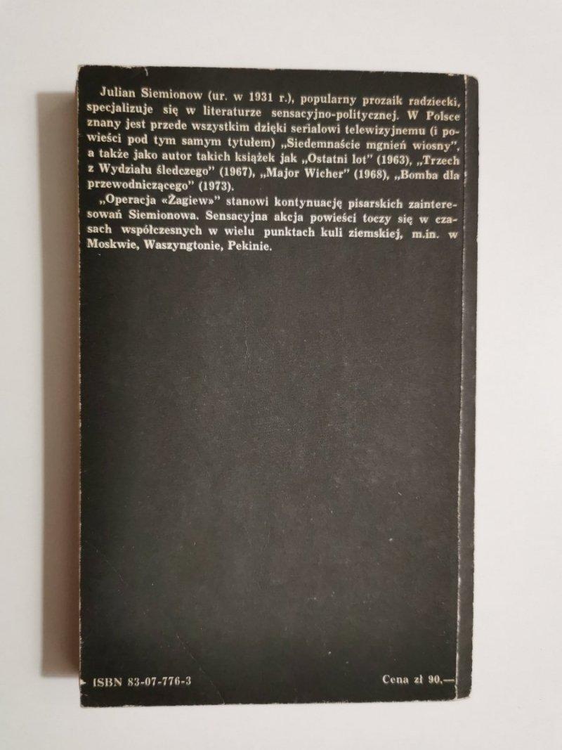 OPERACJA ŻAGIEW - Julian Siemionow 1982
