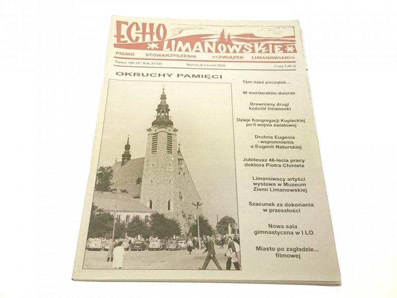 ECHO LIMANOWSKIE NUMER 186-187 ROK XVIII 2010