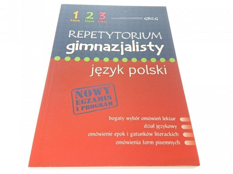 REPETYTORIUM GIMNAZJALISTY. JĘZYK POLSKI 2012