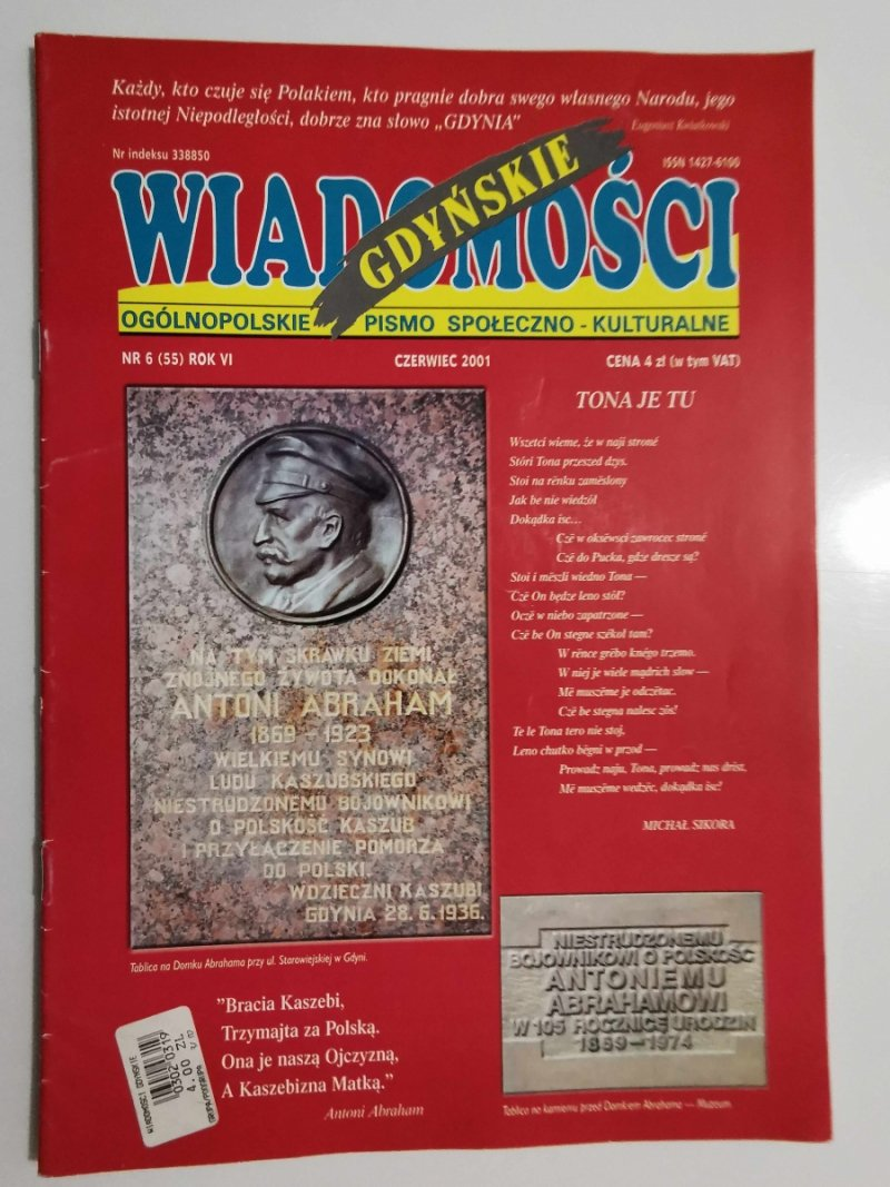 WIADOMOŚCI GDYŃSKIE NR 6 (55) ROK VI CZERWIEC 2001